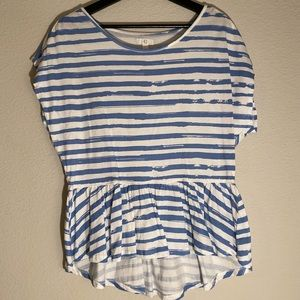 🍂 Charming Charlie blue/white striped top